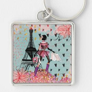Fashion Girl in Paris Keychain