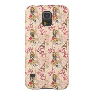 Fashion Girl in Paris Pattern Galaxy S5 Case