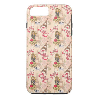 Fashion Girl in Paris Pattern iPhone 8 Plus/7 Plus Case