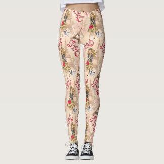 Fashion Girl in Paris Pattern Leggings
