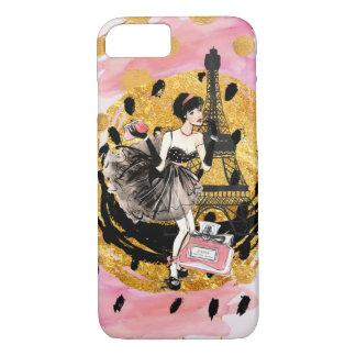 Fashion Girl in Paris Phonecase iPhone 8/7 Case