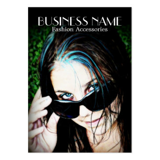 Fashion Girl in Sunglasses Business Cards
