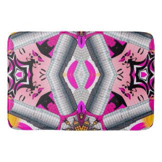 Fashion Girl Kaleidoscope Pattern Bathroom Mat