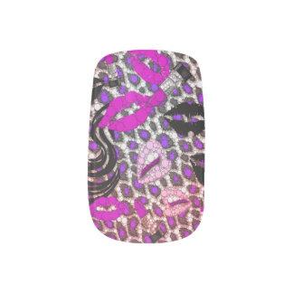 Fashion Girl Lips Cheetah Minx Nails Minx Nail Art