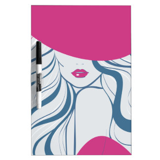 Fashion girl/model dry erase board