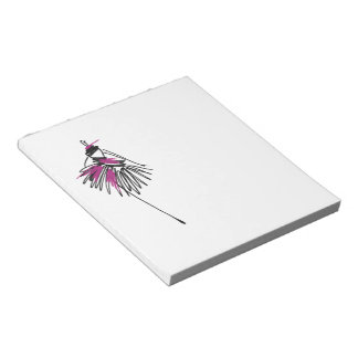 Fashion girl notepad