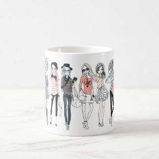 Fashion Girls illustration mug