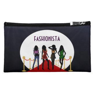 Fashion Girls Red Carpet Suede Medium Cosmetic Bag