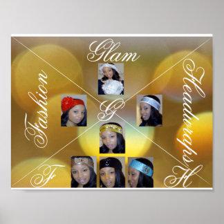 Fashion Glam Headwraps Poster
