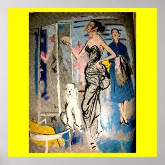 Fashion Glamour 1950's Print
