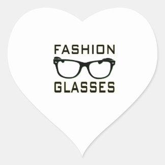Fashion Glasses Heart Sticker