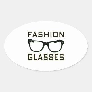 Fashion Glasses Oval Sticker