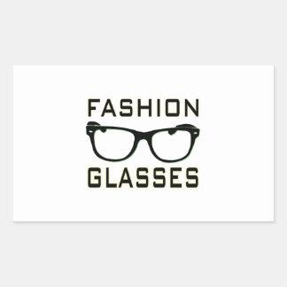 Fashion Glasses Rectangular Sticker
