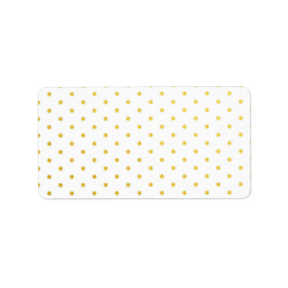 Fashion gold polka dots