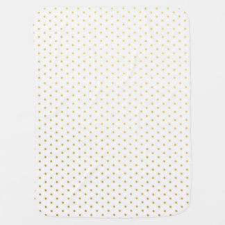 Fashion gold polka dots baby blanket