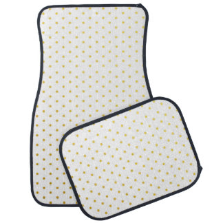 Fashion gold polka dots car mat