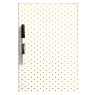 Fashion gold polka dots dry erase board