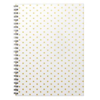 Fashion gold polka dots notebook
