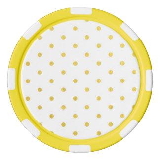 Fashion gold polka dots poker chip set