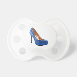 Fashion High Heel Shoe Blue add Text Pacifier