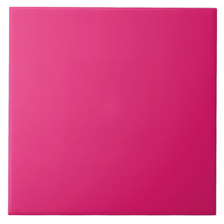 Fashion Hot Pink Personalized Color Background Tile