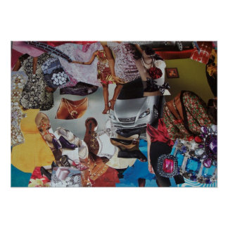 Fashion house collage poster