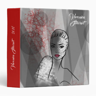 Fashion Illustration Beautiful Face Abstract Art Binder
