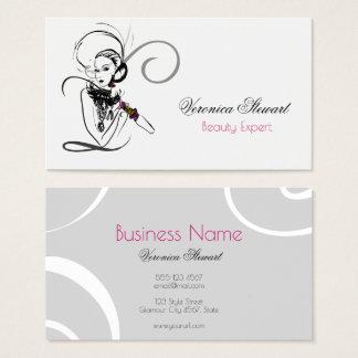 Fashion Illustration Beauty Business Business Card