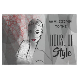 Fashion Illustration House of Style Doormat