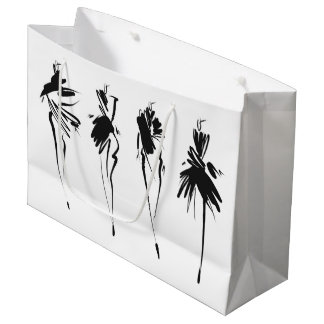 Fashion illustration large gift bag