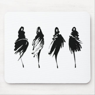 Fashion illustration mouse pad