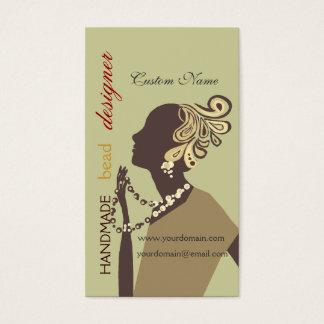 Fashion  Jewel Artist Designer Model Modern Beaded Business Card