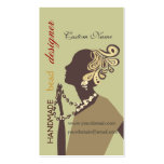 Fashion Jewel  Model with Modern Beaded Art Business Card