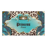 Fashion Jewellery Business Card Leopard Lace Teal