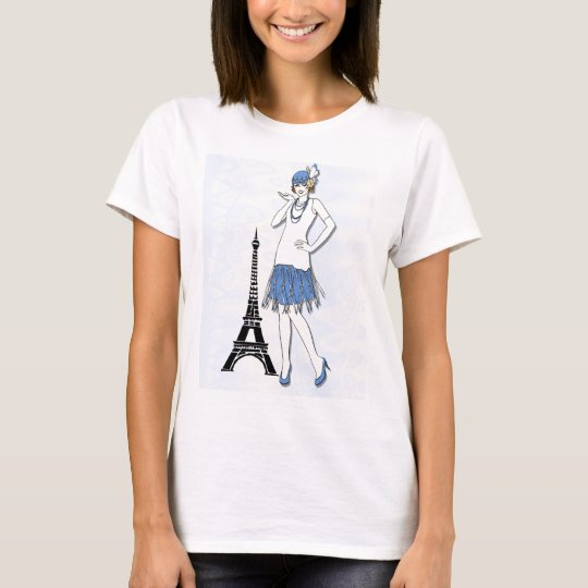 Fashion ladies in Paris T-Shirt
