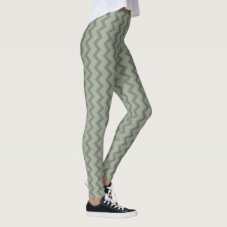 Fashion Leggings - Green Squiggly Lines