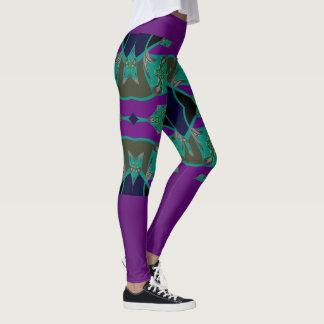 Fashion Leggings -Teal/Blue/Fuchsia/Green/Black