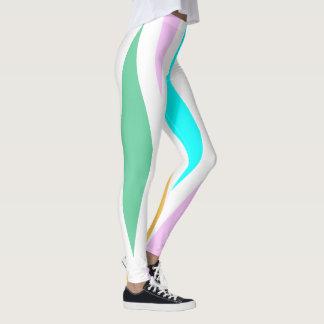 Fashion Leggings-White/Turquoise/Teal/Pink/Gold Leggings