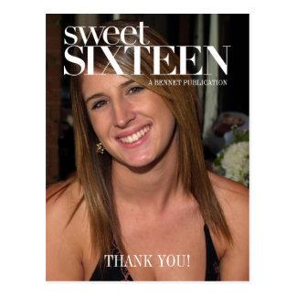 Fashion Magazine Photo Sweet Sixteen Party Thanks Postcard