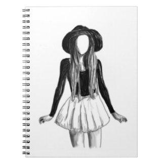 Fashion model design spiral notebook