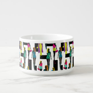 Fashion modern stylish trendy illustration pattern bowl