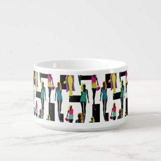 Fashion modern stylish trendy illustration pattern chili bowl