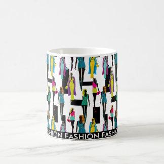 Fashion modern stylish trendy illustration pattern coffee mug