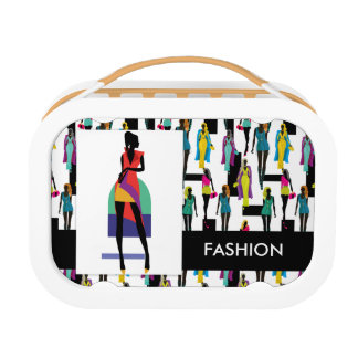 Fashion modern stylish trendy illustration pattern lunch box