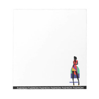 Fashion modern stylish trendy illustration pattern notepad