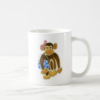 Fashion Monkey Classic White Coffee Mug
