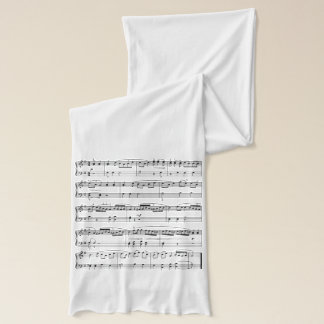 fashion musical score scarf