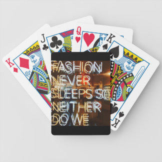 Fashion never sleeps so neither do we ! bicycle playing cards
