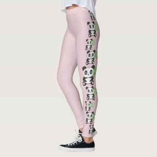 Fashion Original Cartoon Funny Cross Stitch panda Leggings