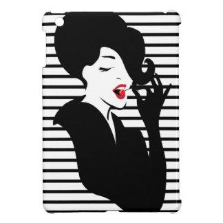 Fashion pin up stylish striped illustration cover for the iPad mini